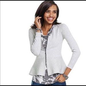 Cabi Willow Peplum Zip Cardigan Size Small NWOT